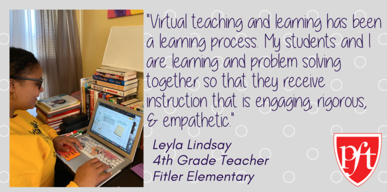 Quote from Lyla Lindsay, 4th Grade Teacher, Fitler Elementary