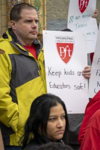 Photo: PFT rally at the Francis Hopkinson School