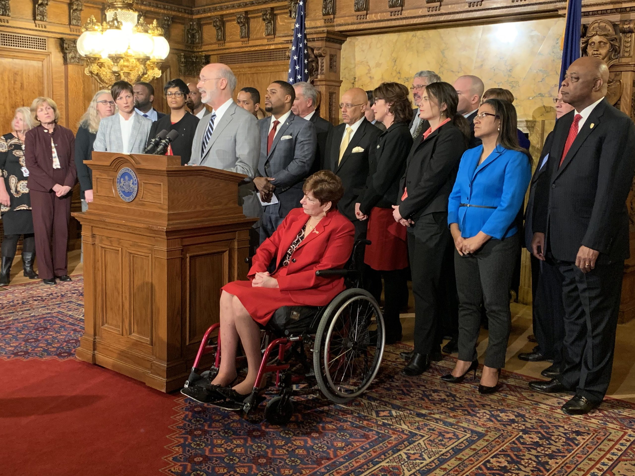 Photo: Governor Wolf and PFT announcing plan