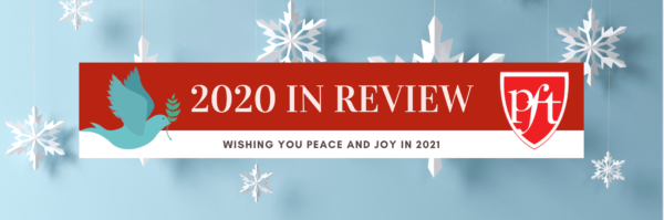 2020 Year in Review. Wishing you peace and joy in 2021