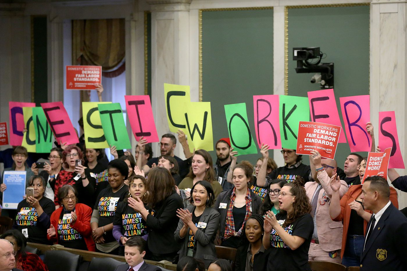 Domestic Workers rally for unprecedented protections